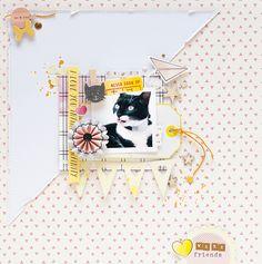 Crazy Cat - Dear Lizzy #scrapbook