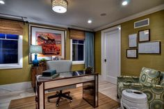 Office with Wide Baseboards
