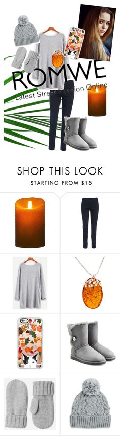 """""""ROMWE contest"""" by theizzybee-1 ❤ liked on Polyvore featuring Luminara, Be-Jewelled, Toni&Guy, Casetify, UGG and Rella"""