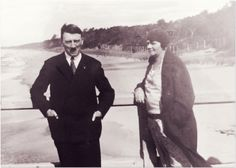 Adolf Hitler with his older half-sister, Angela Raubal