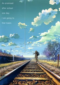 Kumo no Mukou Yakusoku no Basho (Beyond The Clouds, The Promised Place) - Makoto Shinkai - Image - Zerochan Anime Image Board She And Her Cat, The Garden Of Words, Scenery Pictures, Scenery Wallpaper, Environment Design, Anime Scenery, Background Images, Concept Art, Poster Prints