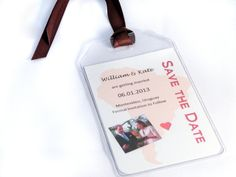 Custom Save the Date Luggage Tags for by APaperParadise on Etsy, $15.00