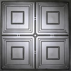 For backsplash around stove Ceilume Jackson Faux Tin Evaluation Sample, Not suitable for installation - 2 ft. x 2 ft. Lay-in or Glue-up Ceiling - The Home Depot Copper Ceiling Tiles, Metal Ceiling, Black Ceiling, Ceiling Grid, Ceiling Panels, X 23, Home Depot, Tin Tiles, Ceiling Installation