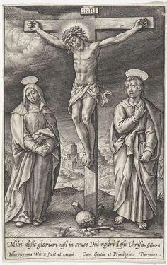 Kruisiging van Christus, Hieronymus Wierix, 1563 - voor 1619