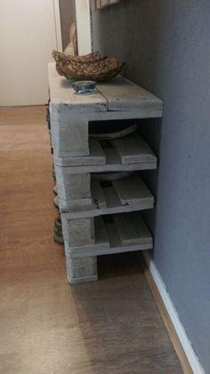 Paletten-Möbel-Schuhregal