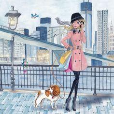 Meisje in New York (Cartita Design)
