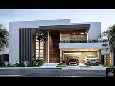 Ideas de Fachadas de casas hermosas fachadas Modernas Minimalistas #casasmodernas #minimalisthouses - YouTube Best Modern House Design, Modern Villa Design, Modern Exterior House Designs, Dream House Exterior, Exterior Design, Modern Bungalow Exterior, Simple House Design, 2 Storey House Design, Duplex House Design