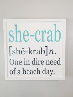 Beach sign crab sign coastal decor crab decor gift for her beach house decor wood beach sign beach gift beach quote - Beach sign crab sign coastal decor crab decor gift for her - Coastal Homes, Coastal Decor, Crab Decor, Beach Wood Signs, Fishing Shack, Beach Quotes, Ocean Quotes, Beach Sayings, Lake Quotes