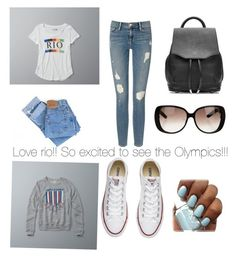 """""""Rio!!!"""" by fluffyunicorn7 ❤ liked on Polyvore featuring Abercrombie & Fitch, Levi's, Frame Denim, Converse, rag & bone and Gucci"""