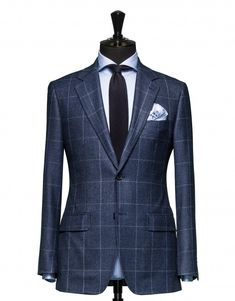 Tailored 2-Piece Suit - Fabric 4339 Check Blue