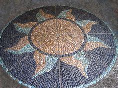 Pebble Mosaic Sunburst
