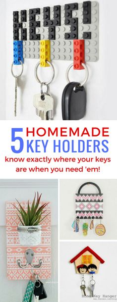 These homemade key holder DIY ideas are just what I need to keep my keys safe and sound!