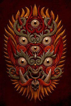 illustrator and art-director portfolio Tibetan Tattoo, Tibetan Art, Tribal Art, Geometric Art, Chest Tattoo Cover Up, Medusa Art, Skeleton Art, Indian Art Paintings, Inca
