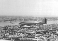 TAP flying over Lisbon