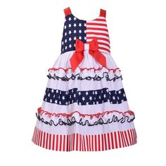 Sophie Rose Tiered Gingham Butterfly Sundress Dress NWT 2T 3T Navy White Summer