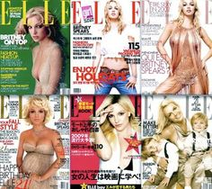 Britney Spears' Elle covers