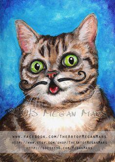 Lil Bub Cat postcard art print by Megan Mars by TheArtofMeganMars, $3.00