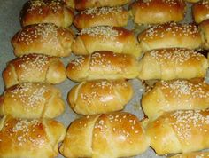 Greek Desserts, Greek Recipes, Hot Dog Buns, Nutella, Side Dishes, Cooking Recipes, Bread, Homemade, Dinner
