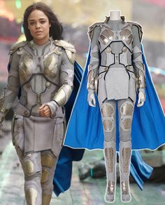 Valkyrie Grey soldier outfit costume from Thor Ragnarok is detailed and made as a grey soldier's outfit. It is so comfortable to wear and is also really strong and gives a stern look.