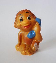 Whistle vintage soviet rubber monkey toy on Etsy, $7.04 AUD