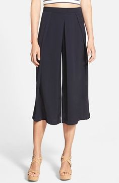 The Hanger Pleated Culottes (Juniors) available at #Nordstrom