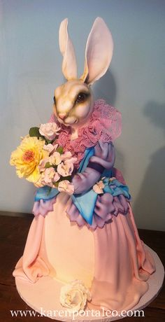 Bunny Cake by Karen Portaleo/ Highland Bakery, via Flickr
