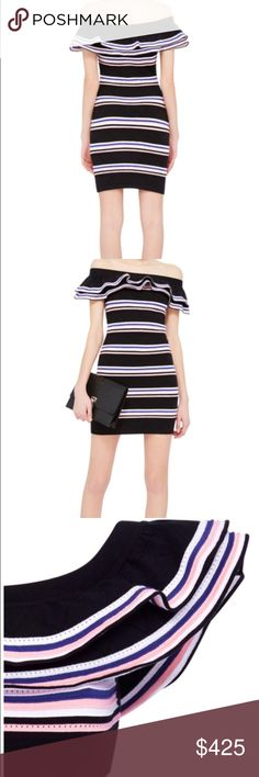 Beautiful stripped MSGM dress. Italian. Size M Beautiful stripped MSGM dress. Italian. You can wear it off the shoulders it's fun for everyday and for going out at night, size medium. Only worn three times. It hugs the body so you can show off what you've got. Your going to love it. The material is great your not going to want to take it off. MSGM Dresses Mini