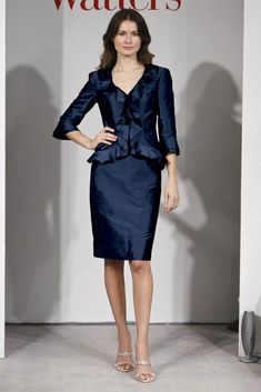 Navy blue mother of the bride suit from Collection 20 by Watters & Watters