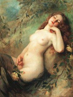 Victor K. Schtember - A sitting nude 1900