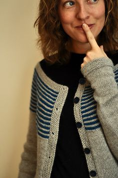 Nice cardi all year round. Pattern details via Rav