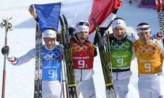 French Olympic team at sotchi 2014 proudly face painted with Fanbrush