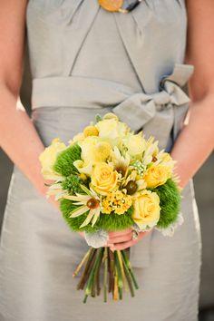 yellow bridesmaid bouquet // adam+allie photography Love the yellow and gray! Bridesmaid Bouquet, Wedding Bouquets, Perfect Wedding, Dream Wedding, Wedding Stuff, Yellow Bouquets, Wedding Planning Inspiration, Hand Tied Bouquet, Arte Floral