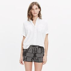 San Diego Cover-Up Shorts in Arrow Grid