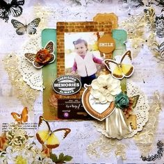 My Creative Scrapbook January 2016 Limited Edition Kit Mixed Media, Heritage, Vintage Scrapbooking