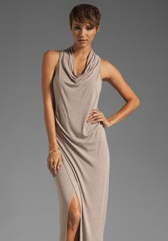 Heather Maxi Cowl Dress in Heather Hazel at THE MIX