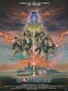 Ghostbusters by Gustavo Barroni Ghostbusters Poster, Original Ghostbusters, The Real Ghostbusters, Sci Fi Movies, Horror Movies, Horror Film, Cult Movies, Non Plus Ultra, Ghost Busters