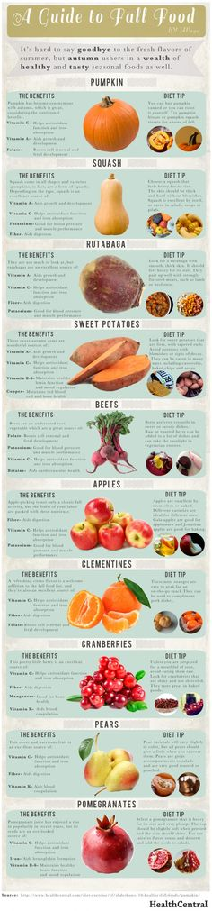 Fall food benefits and tips! Nice! Fall doesn't just have good food, it's good for you over all!