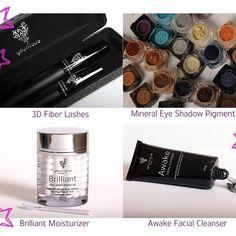 Naturally base cosmetics and 3d fiber lash mascara.