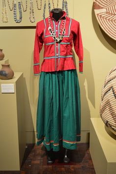 Seri woman's dress for everyday wear on display at the Museo de Arte Populare, Mexico City