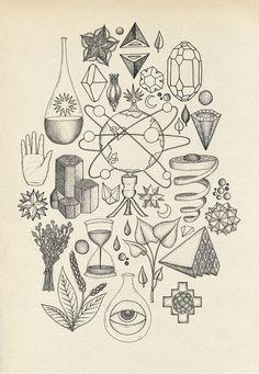 "katie-scott: "" Science and Magic """