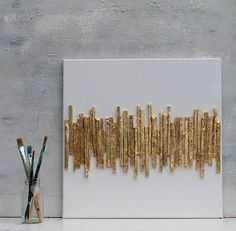 Gold leaf Abstract paper gift office decor mixed media gold wall decor art golden Art contemporary wall art artworks My picture were taken with a variety of tools: eg putty sand coffee Zewa pigments Pastelkreiden egg shells peppers seeds Persian blue Gold Wall Decor, Wall Art Decor, Cuadros Diy, Feuille D'or, Abstract Paper, Abstract Pictures, Gold Walls, Contemporary Wall Art, Paper Gifts