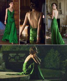 Vestido verde, de Keira Knightley, em 'Desejo e Reparação