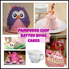 So many creative and adorable Pampered Chef Batter Bowl cakes!! Who knew there were so many!?
