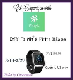 Enter to Win a FitBit Blaze Giveaway Ends 3/29