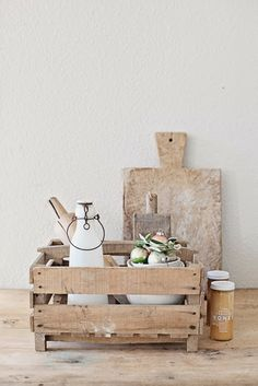 The Fixer Upper Farmhouse Kitchen Look - The Cottage Market Shabby, French Farmhouse, Farmhouse Decor, Rustic French, Rustic Chic, Sweet Home, Deco Nature, Diy Cutting Board, Wooden Boxes