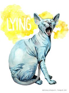 meganlynnkott:  Fan art I made inspired by Lying Cat, a character from Brian K. Vaughn & Fiona Staples comic, Saga.