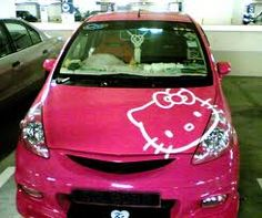 Hello Kitty car!