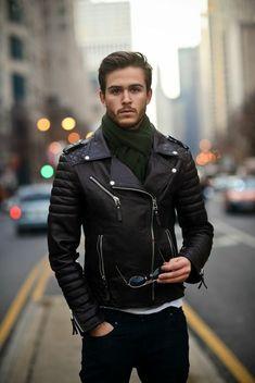 bc356e1961a9 1 les dernieres tendances chez le veste cuir homme couleur noir lunettes de  soleil Veste Hiver