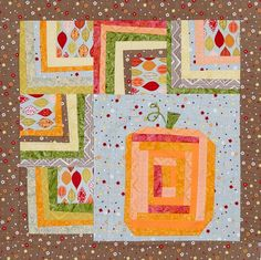 Diy Fall prints and wonky pieced blocks make up a whimsical autumn wall  hanging. A pumpkin block in assorted oranges pops off the quilt for a bright  seasonal design.Fabrics are from the Matilda collection by Alice Kennedy  with Java Blenders batiks and Tonga Batiks, all from Timeless Treasures  Fabrics [1].    [1] http://ttfabrics.com