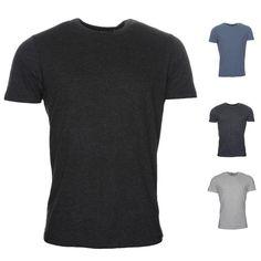 Mens Brave Soul T Shirt Grail Ribbed Neck Plain Tee Top